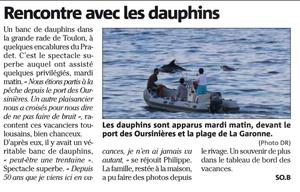 Des dauphins pour le Mas de la Gavaresse
